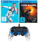 PS4 Nacon Controller+ FIFA 19+ Shadow of the Tomb Raider für 89€  (statt 130€)