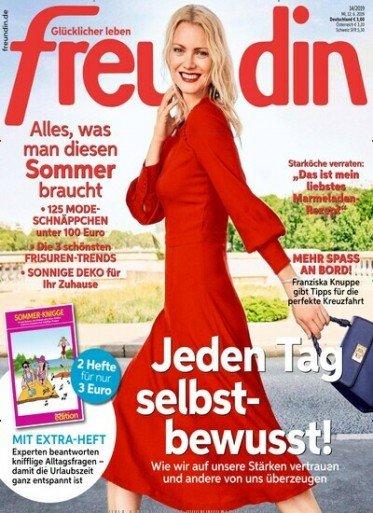 """13 Ausgaben der Zeitschrift """"Freundin"""" für 39€ + 35€ Verrechnungsscheck"""