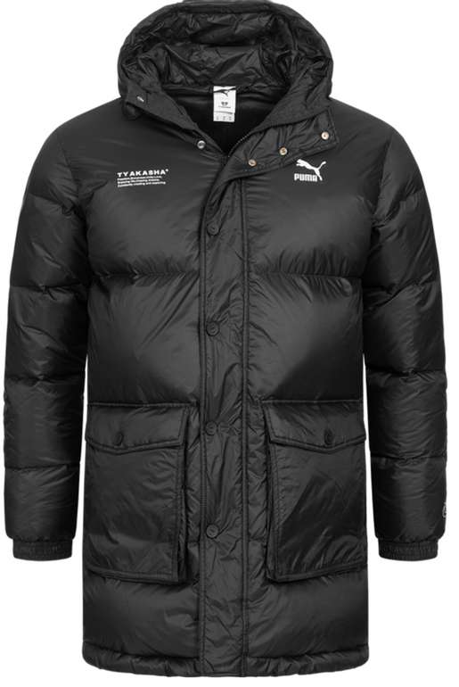 """Puma x """"Tyakasha"""" Herren Daunenparka in schwarz für 89,99€ inkl. Versand (statt 120€)"""