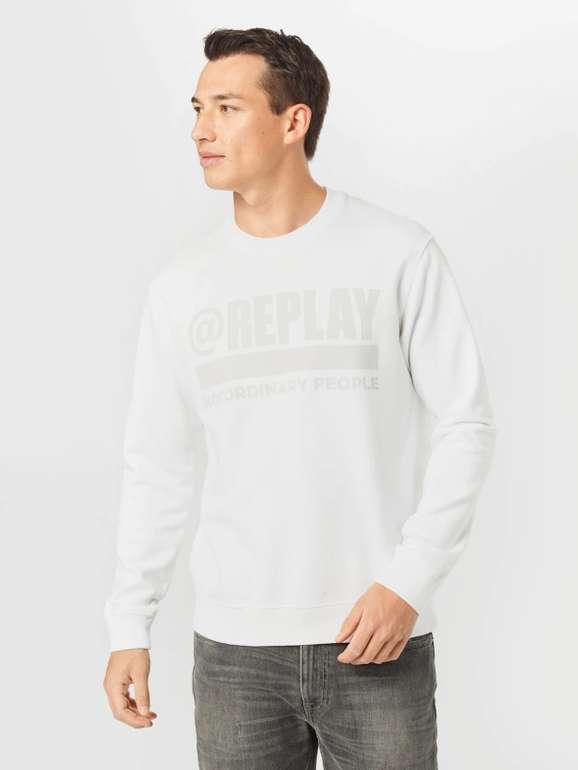Replay Sweatshirt in Weiß für 42,45€ inkl. Versand (statt 100€)