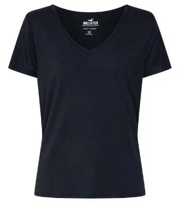 Hollister Damen Shirt in schwarz für 13,52€ inkl. Versand (statt 20€)