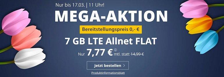 PremiumSIM o2 Allnet-Flat mit 7GB LTE Datenvolumen