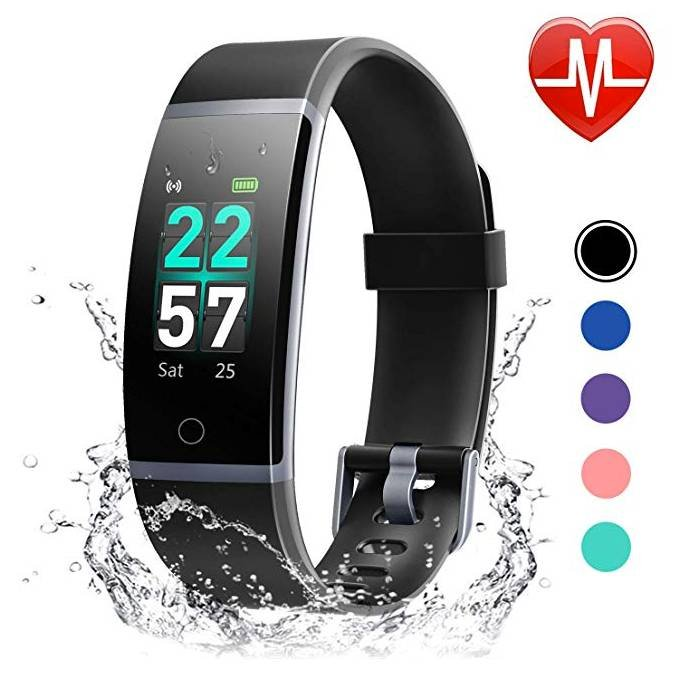 Letscom Fitness Armband mit Pulsmesser, IP68 Wasserdicht für 23,39€ (Prime)