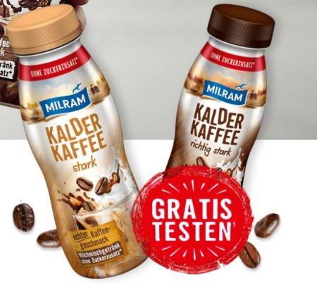 Milram Kalder Kaffee gratis testen dank Geld-zurück-Garantie