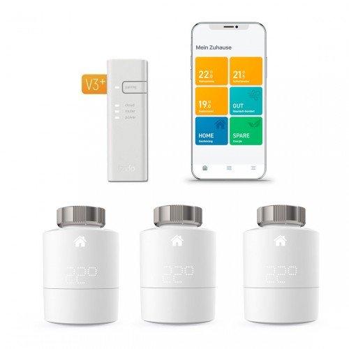 tado° Heizkörper-Thermostat Starter Kit V3+ mit 3 Thermostaten & Bridge für 159,95€ inkl. Versand (statt 190€)