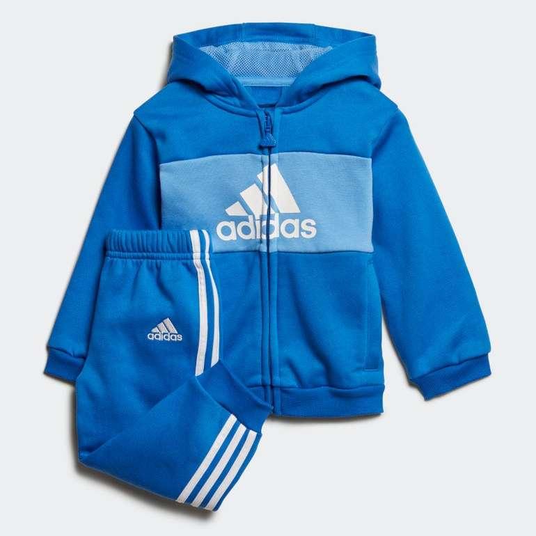 Adidas Baby bzw. Kinder Logo Hooded Jogginganzug in 3 Farben für je 18,60€ inkl. Versand - Creators Club