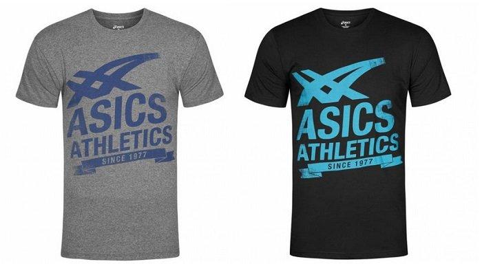 Doppelpack Asics Athletics Graphic Tee Herren T-Shirts für 19,99€ inkl. VSK