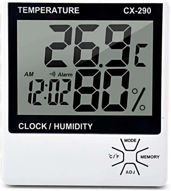 Donci Thermometer mit LCD Bildschirm (Hygrometer, Wecker) für 5,99€ inkl. Versand (statt 12€)