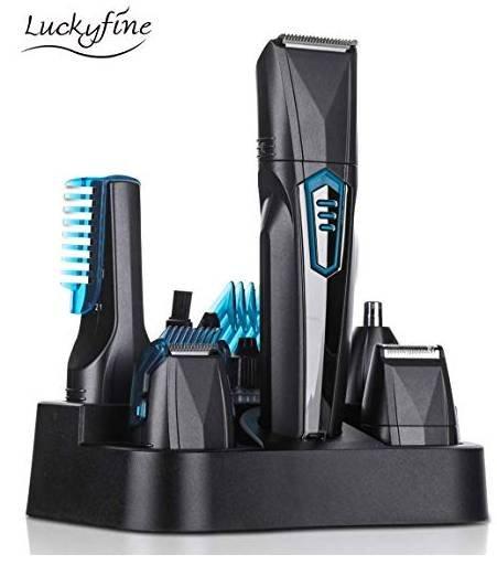 LuckyFine elektrisches Haarschneidemaschinen-Set (6in1) für 17,04€ (Prime)