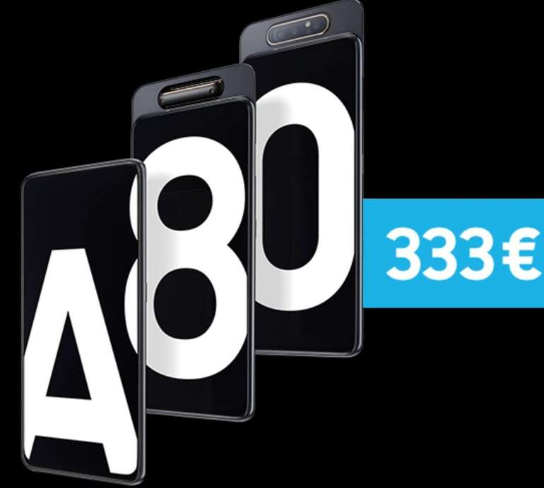 """Samsung Galaxy A80 - 6,7"""" Dual-SIM Smartphone mit 3-fach Kamera für 320,99€ (statt 401€)"""