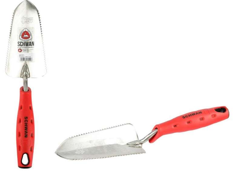 2x Schwan Wurzelsepp Pflanzschaufel mit Sägezähnen (rostfreier Edelstahl, Softgriff) für 15,98€ (statt 20€)