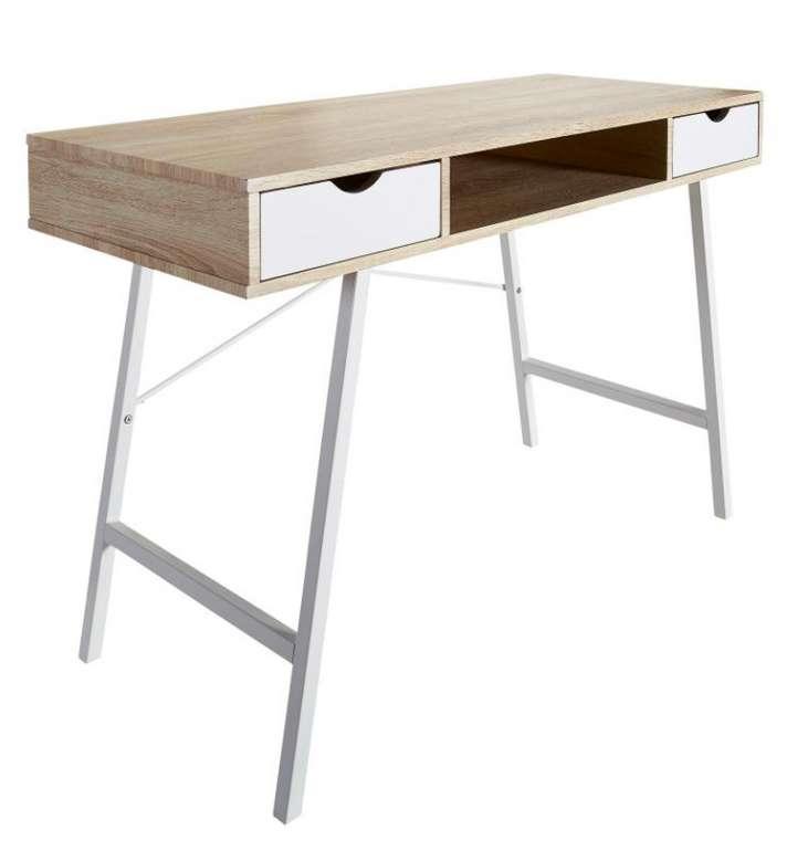 Schreibtisch Bryrup mit 2 Schubladen (76x120cm) für 55,99€ inkl. Versand (statt 80€)
