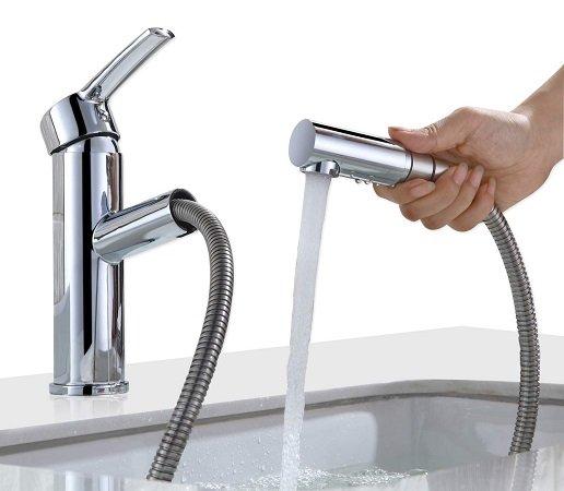 Homelody Mischbatterie Wasserhahn mit ausziehbarer Brause für 38,99€
