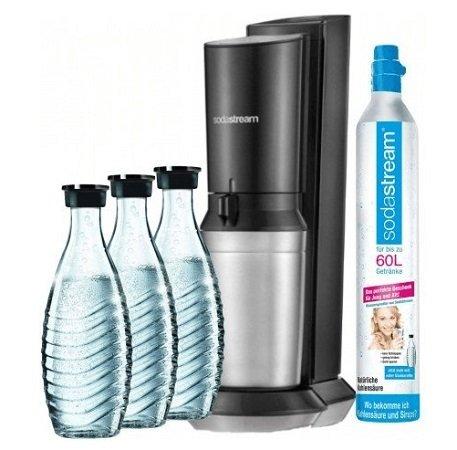 Sodastream Crystal 2.0 (3 Karaffen + 1 Zylinder) für 99€ + 6 Leonardo Gläser