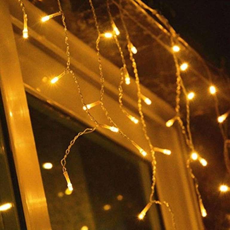 Vingo LED Eisregen Lichternetz mit 600 LEDs (warmweiß) für 21,69€ inkl. Versand