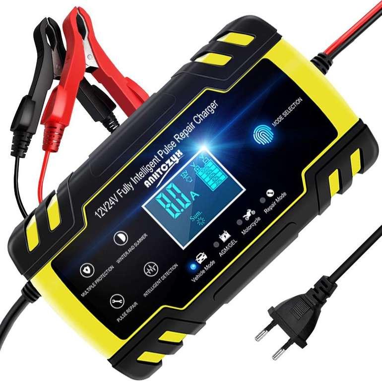 Nwouiiay Autobatterie Ladegerät 8A/12V mit LCD-Bildschirm für 22,09€ (Prime)