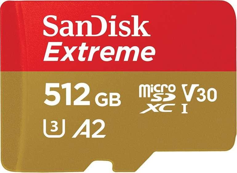 Sandisk Extreme, Micro-SDXC Speicherkarte (512 GB, 160 MB/s) für 96,51€ inkl. Versand (statt 123€)