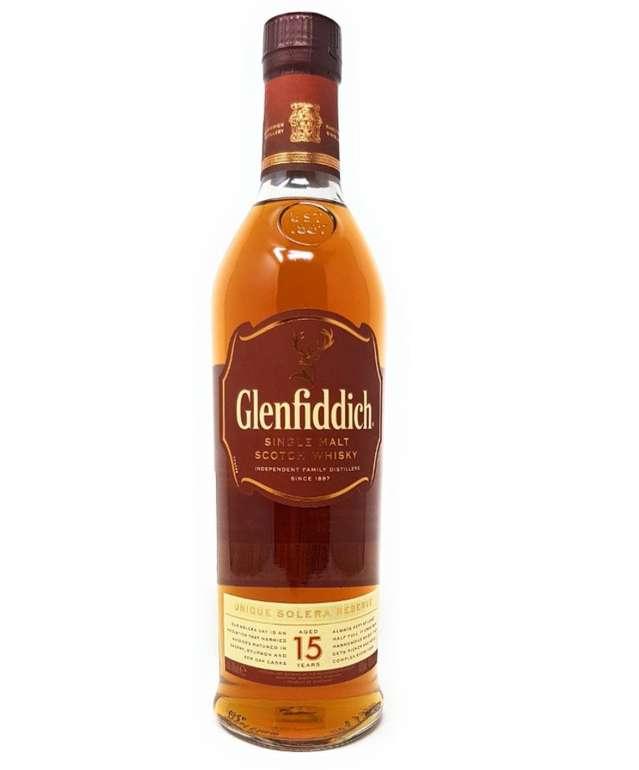 Glenfiddich Single Malt Scotch Whisky 15 Jahre Solera (0,7 Liter, 40 % Vol.) für 29,99€ inkl. Versand
