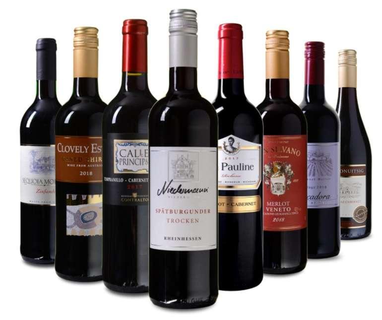"""Wein Probierpaket """"Rund um die Welt"""" mit 8 verschiedenen Wein-Sorten für 39,99€ (statt 70€)"""