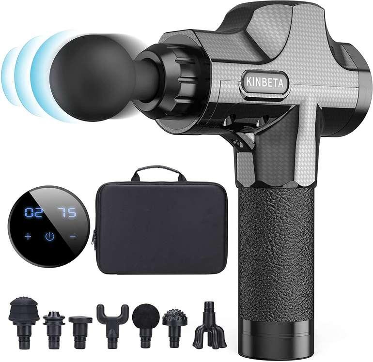 Kinbeta Massagepistole (30 Geschwindigkeiten, 7 Köpfe) für 49,99€ inkl. Versand (statt 100€)