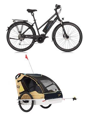 Fischer ETD 1861-R1 E-Bike + Leggero Vento V89 Kinder-Fahrradanhänger für 1.645€