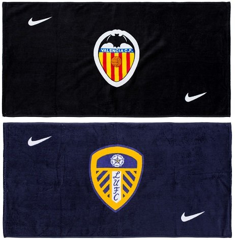 Nike Handtuch 50cm x 100cm: Leeds United FC oder FC Valencia für 4,44€ + VSK