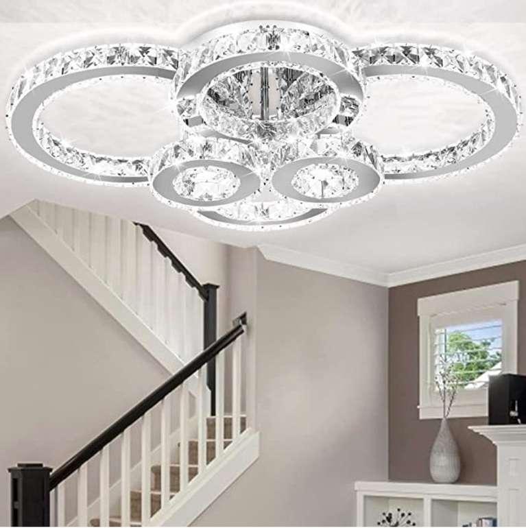 Clanmacy LED Kristall Deckenleuchte (A++, dimmbar) für 92,34€ inkl. Versand (statt 154€)