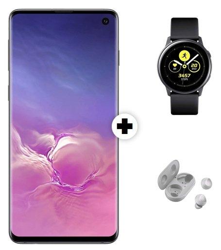 Samsung Galaxy S10 + Watch Active + Buds (29€) inkl. o2 Free M Allnet-Flat mit 20GB LTE für 29,99€ mtl.