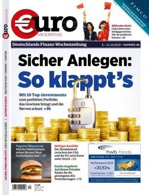"""12 Ausgaben """"Euro am Sonntag"""" Magazin für 56€ + 60€ BestChoice Gutschein"""