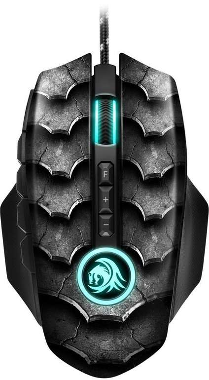 Sharkoon Drakonia II Black - Gaming-Maus (optisch, 15000dpi, USB, 12 Tasten) für 26,88€ inkl. Versand (statt 40€)