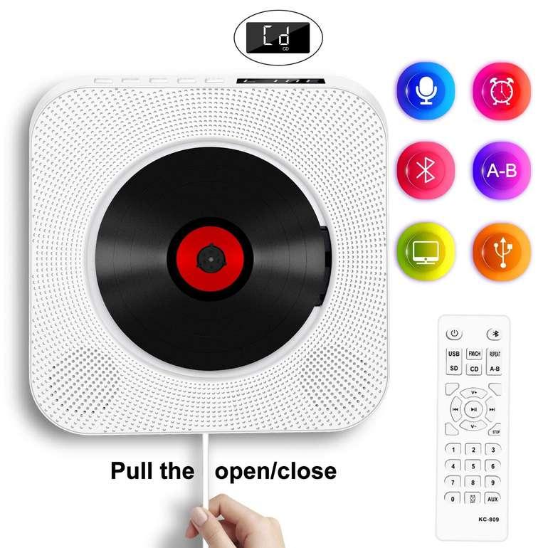 Soulcker CD Player mit Bluetooth, Radio FM & Kopfhörerausgang für nur 28,73€ inkl. VSK
