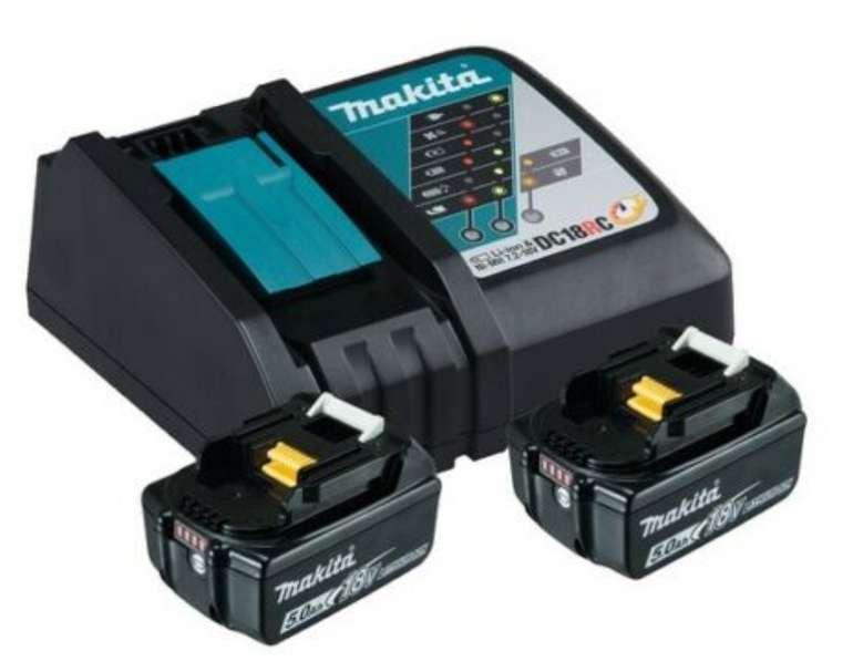 "Makita Power Source Kit (Ladegerät + 2 Akkus ""BL1850B"") für 159,99€inkl. Versand (statt 177€)"