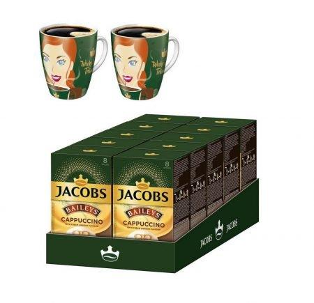 Jacobs Cappucino Baileys (10 x 8 Kaffee Sticks) + 2 Ritzenhoffbecher für 17,90€
