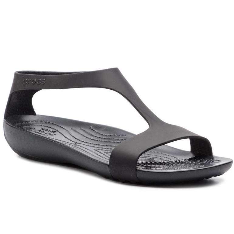 Crocs Sandalen Serena in Schwarz für 28€ inkl. Versand (statt 34€)