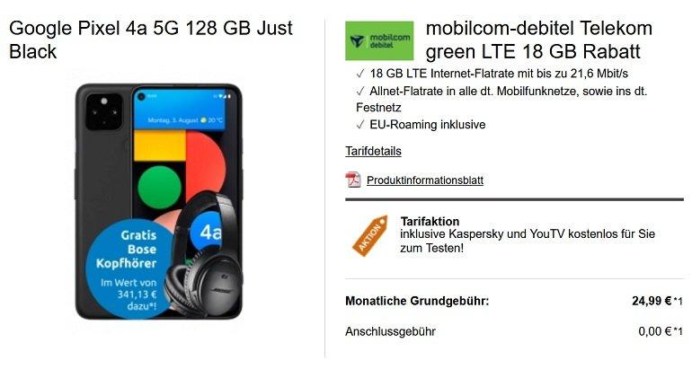 Google Pixel 4a 5G MD Telekom Allnet-Flat mit 18GB LTE 2