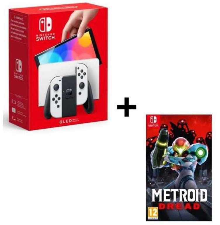 Nintendo Switch OLED Konsole in weiß + Metroid Dread (Switch) für 369,99€ inkl. Versand (statt 402€)