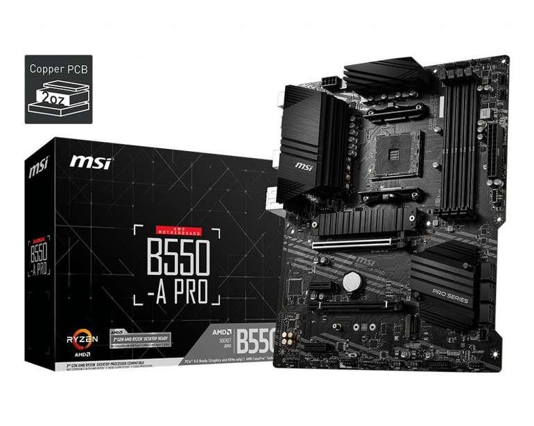 MSI B550-A PRO (7C56-002R) Mainboard für 97,74€ inkl. Versand (statt 111€) - Media Markt Club!