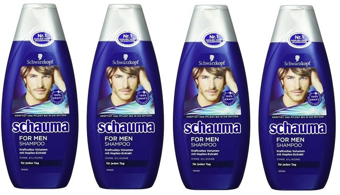 4er Pack (je 400 ml) Schwarzkopf Schauma for Men Shampoo 3,96€ - (Plus Produkt)
