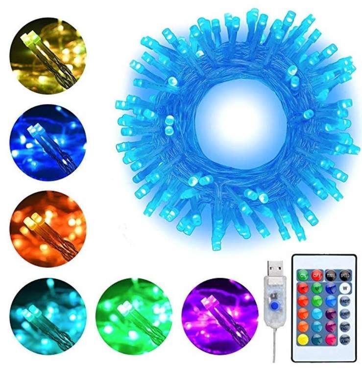 10m Ollny RGB USB LED Lichterkette (100 LEDs, 16 Farben, 4 Modi) für 12,79€ mit Prime