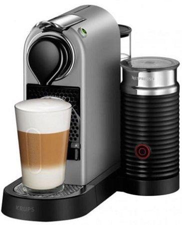 Krups XN760B Nespresso New CitiZ&milk Kapselmaschine für 99€