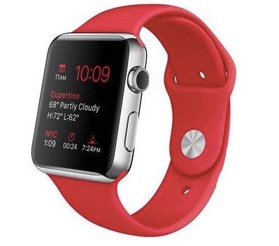 Apple Watch 42mm mit Sportarmband in rot nur 255,90€ (1. Generation)