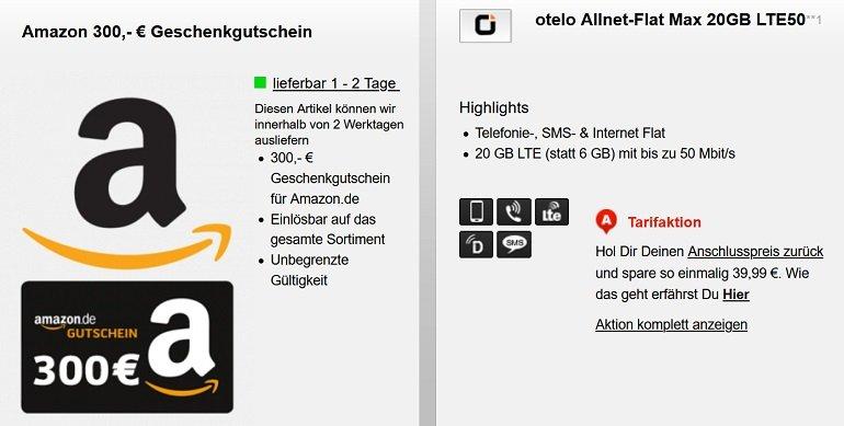 Vodafone otelo Allnet-Flat Max mit 20GB