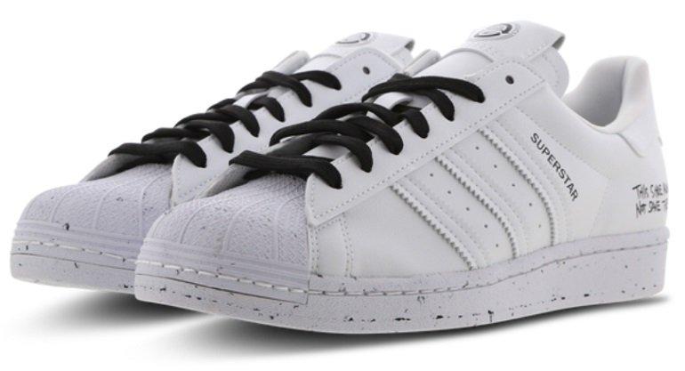adidas Superstar Lowcut Leder-Sneaker im Cloud-White-Colorway 2