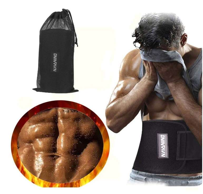 Navanino Fitnessgürtel zur Fettverbrennung und Rückenstabilisierung für 7,99€ (Prime)