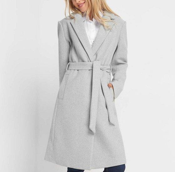 Orsay: 30% Rabatt auf ausgewählte Wollmäntel & Blusen, z.B. grauer Wollmantel für 53,94€