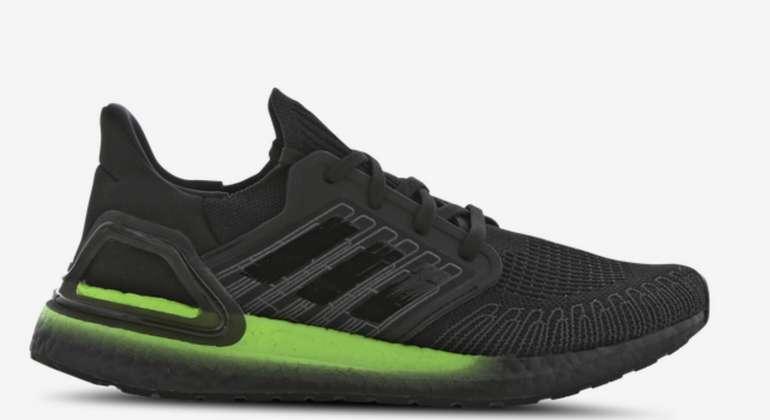 adidas Ultraboost 20 Herren Schuhe in schwarz/grün für 89,99€inkl. Versand (statt 105€)