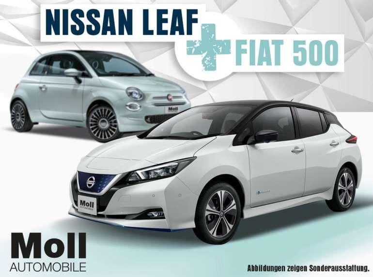 "Privat & Gewerbe Leasing: Fiat 500 Hybrid ""Lounge"" + Nissan Leaf ZE1 40kWh ""VISIA"" für 196€ mtl. (BAFA, LF: 0,42)"