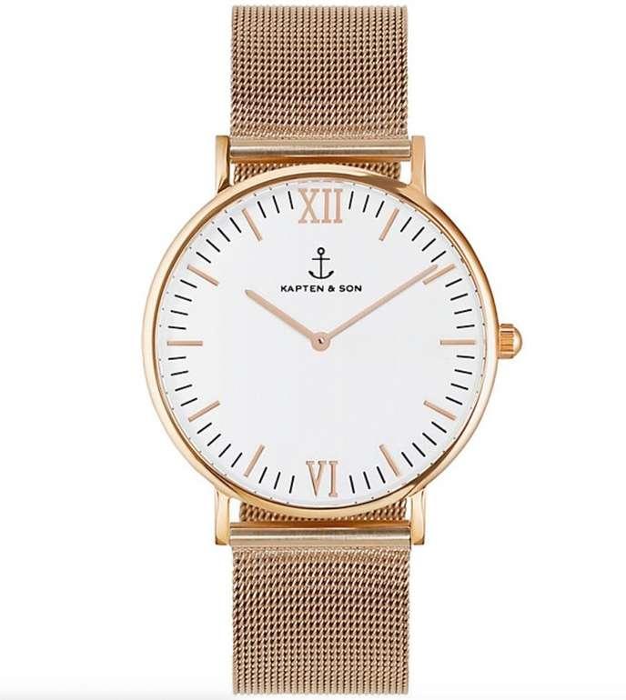 Christ Focus Deal: Kapten & Son Uhr Campina/Campus White RG für 59,92€ (statt 75€)