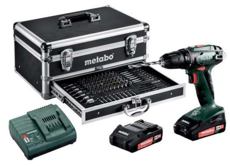 Metabo BS 18 Akku Bohrschrauber Set inkl. 2x 2,0 Ah Akku & Koffer mit Zubehör für 125,46€ (statt 164€)