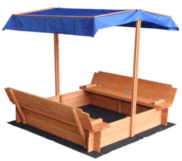 """Verstellbarer Sandkasten """"Buddelkiste"""" mit Dach und Bank für 89,10€ inkl. Versand (statt 100€)"""